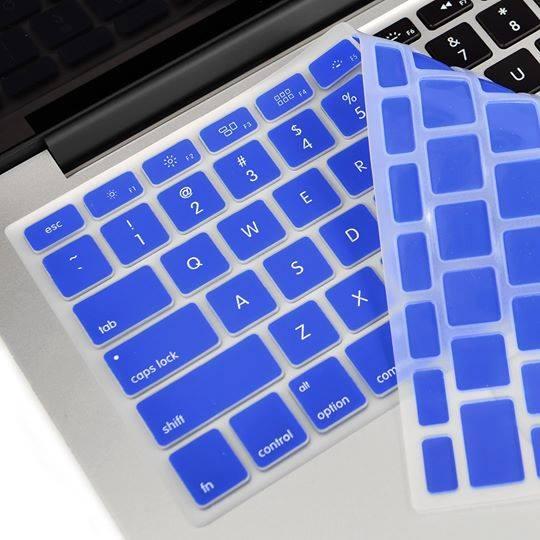Lót phím macbook silicon xanh