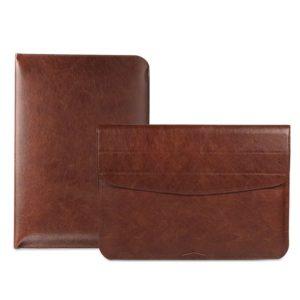 Túi da đựng macbook màu nâu