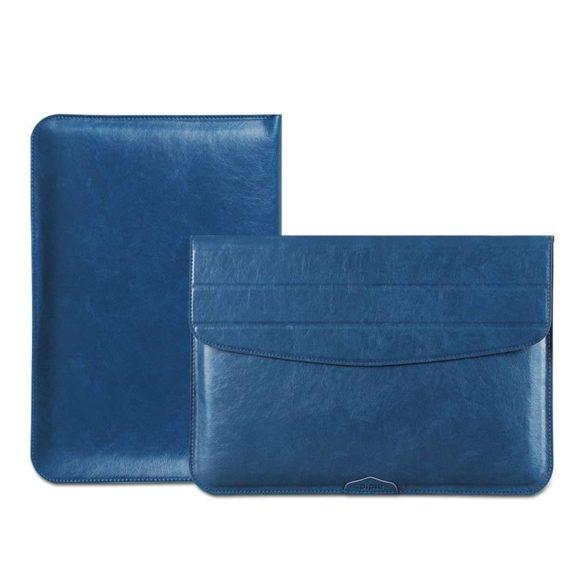 Túi da đựng macbook màu xanh
