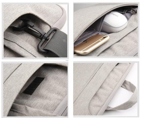 Túi ngoài rất hữu dụng khi đựng được nhiều phụ kiện