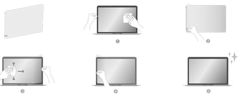 Cách dán màn hình Macbook