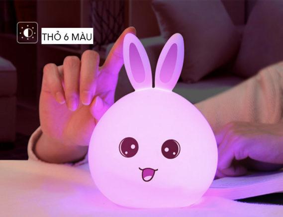 Đèn Led Thông Minh Thỏ Màu Tím