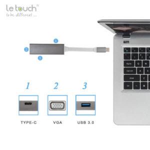 Cổng chuyển/Hub USB Type-C Le Touch 3.0 VGA