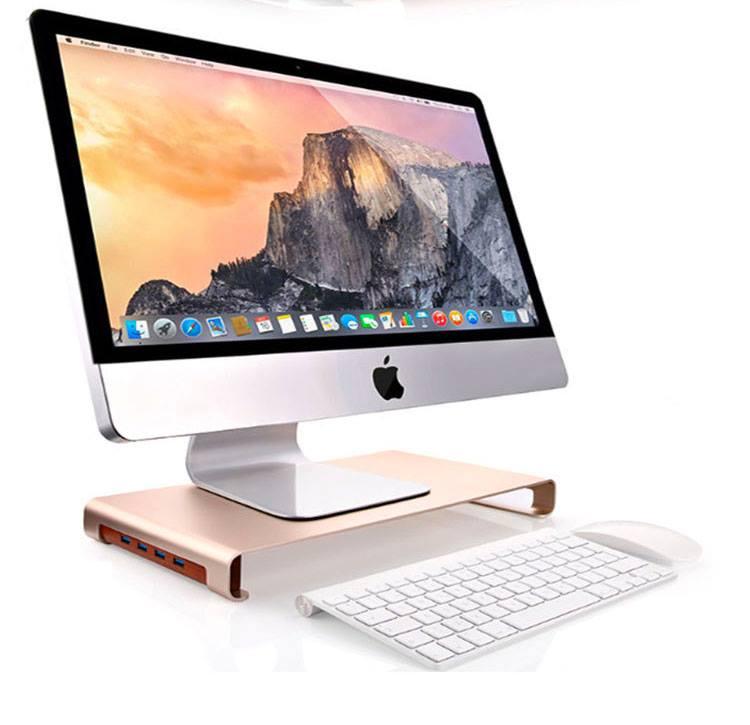 Kệ để Imac hay Macbook kèm USB nhôm