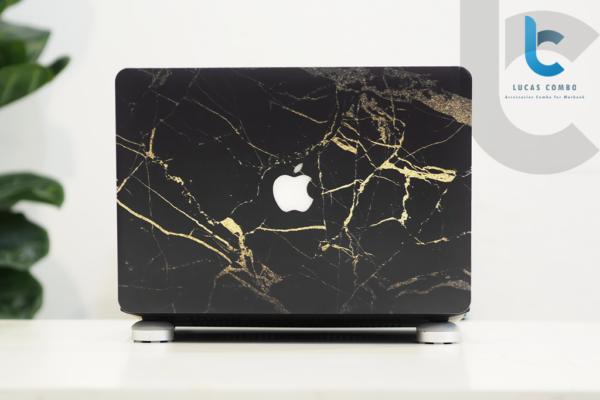 Case Macbook Vân Đá Màu Đen