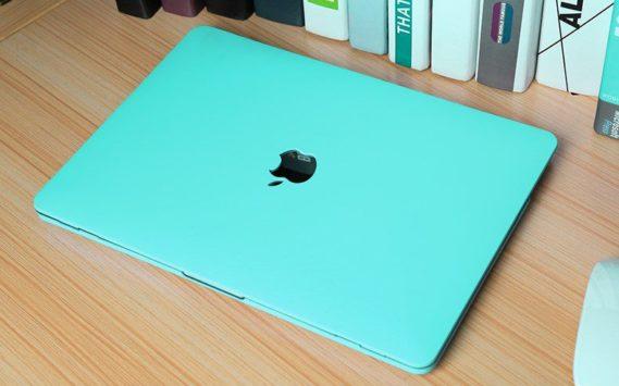 Case macbook xanh la pastel