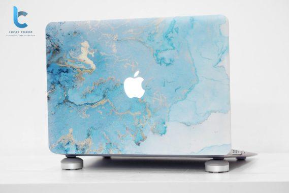 Ốp lưng macbook màu xanh vân đá