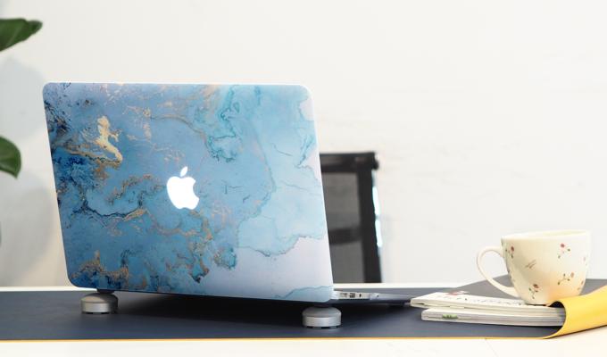 Case Macbook Vân Đá Màu Xanh