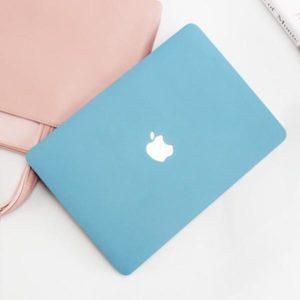 Case macbook xanh dương với cái túi