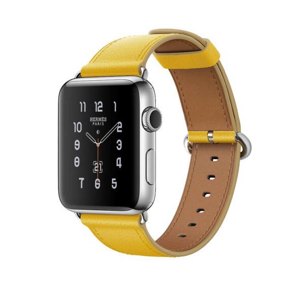 Dây Đeo Da Jinya Fresh Cho Apple Watch Vàng