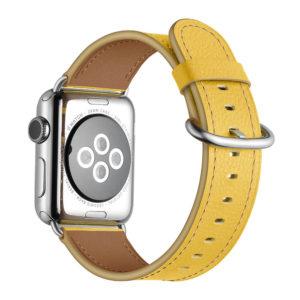 Dây Đeo Da Jinya Fresh Cho Apple Watch Vàng Sau