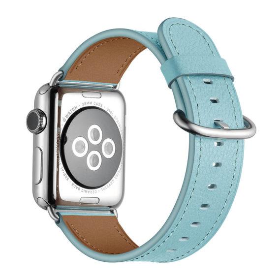 Dây Đeo Da Jinya Fresh Cho Apple Watch Xanh Sau