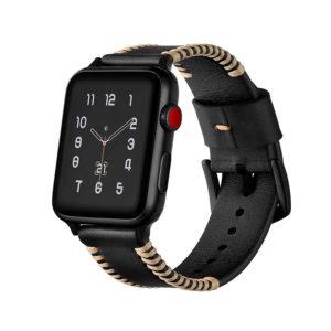 Dây Đeo Da Jinya Style Cho Apple Watch Đen