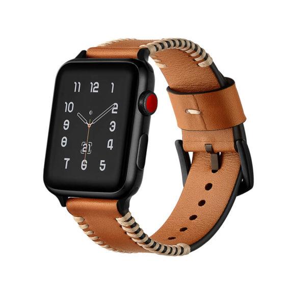 Dây Đeo Da Jinya Style Cho Apple Watch Nâu