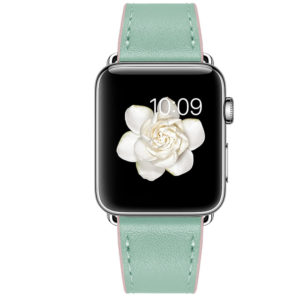 Dây Đeo Da Jinya Twins Cho Apple Watch Xanh
