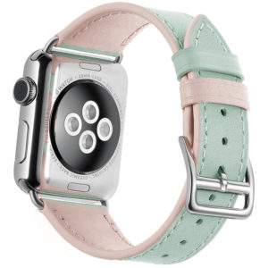 Dây Đeo Da Jinya Twins Cho Apple Watch Xanh Sau