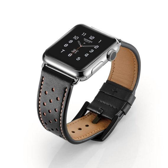 Dây Đeo Da Jinya Vogue Cho Apple Watch Đen