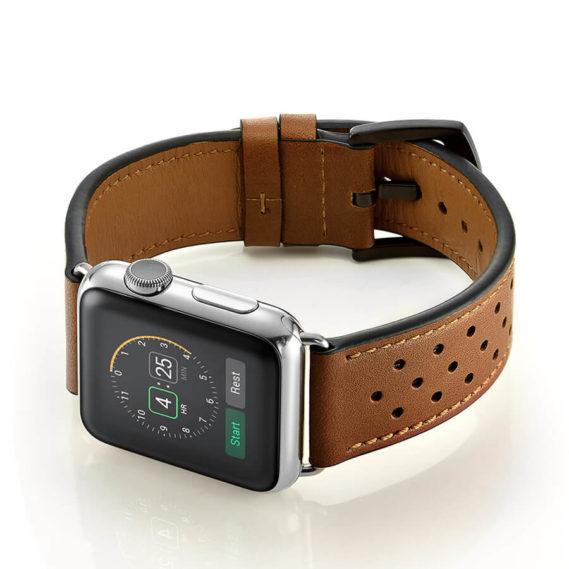 Dây Đeo Da Jinya Vogue Cho Apple Watch Nâu