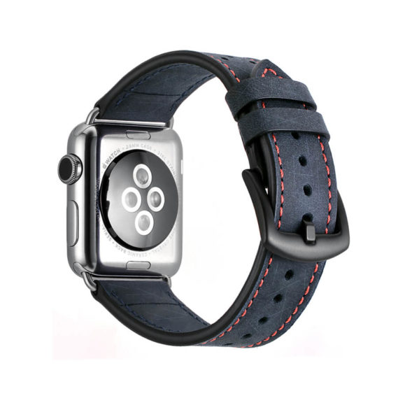 Dây Đeo Da Jinya Vogue Cho Apple Watch Xanh