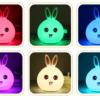 Đèn Led Thông Minh Thỏ Sáu Màu